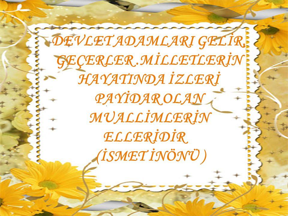 DEVLET ADAMLARI GELİR, GEÇERLER