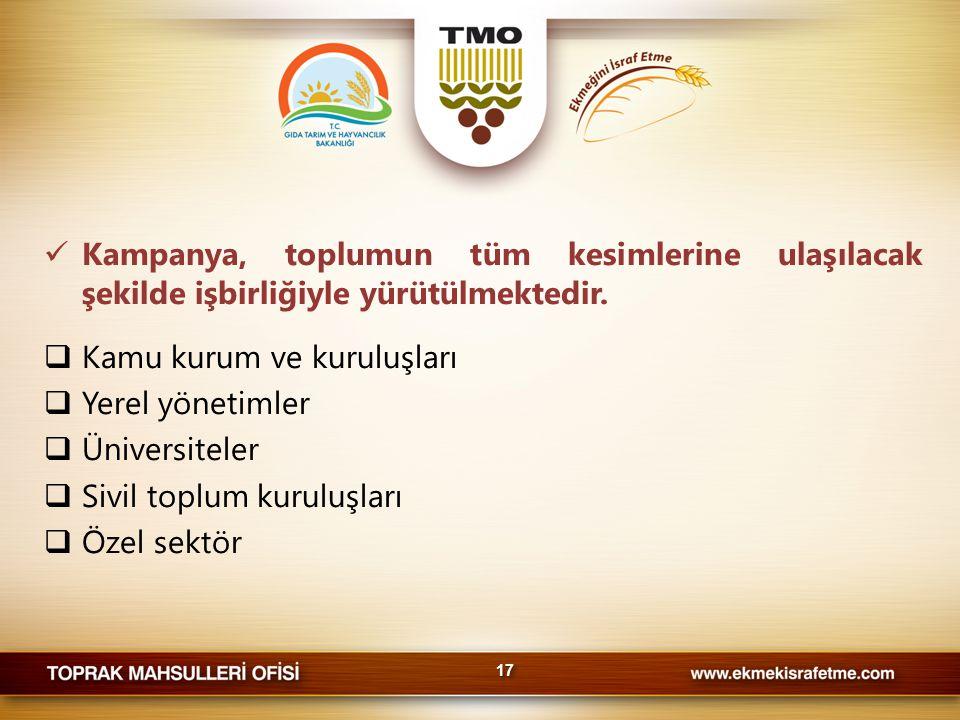Kamu kurum ve kuruluşları Yerel yönetimler Üniversiteler