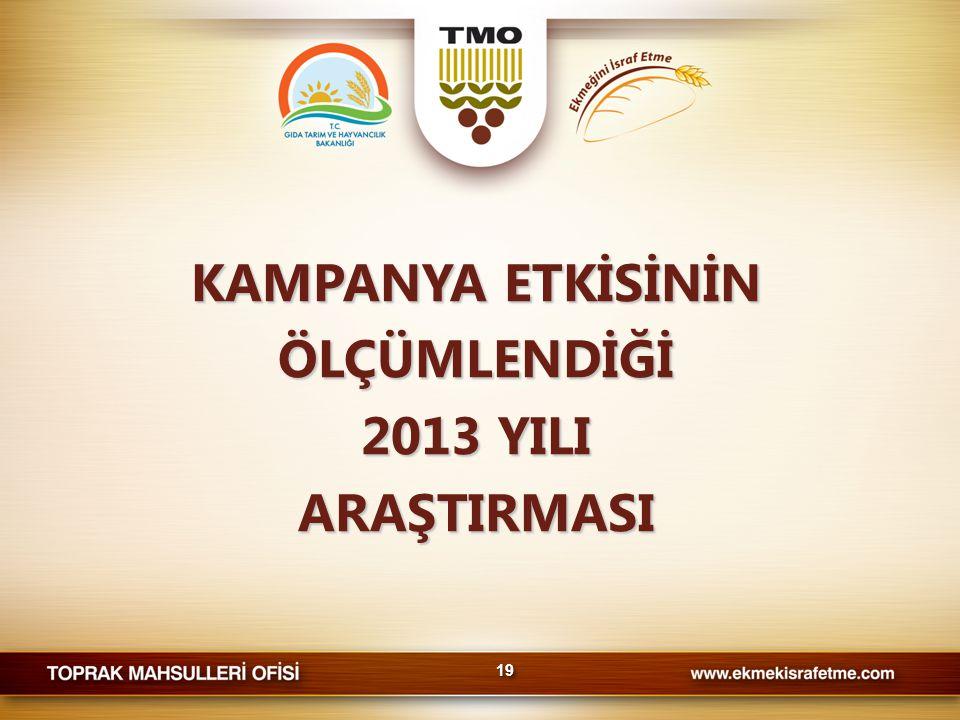 KAMPANYA ETKİSİNİN ÖLÇÜMLENDİĞİ 2013 YILI ARAŞTIRMASI