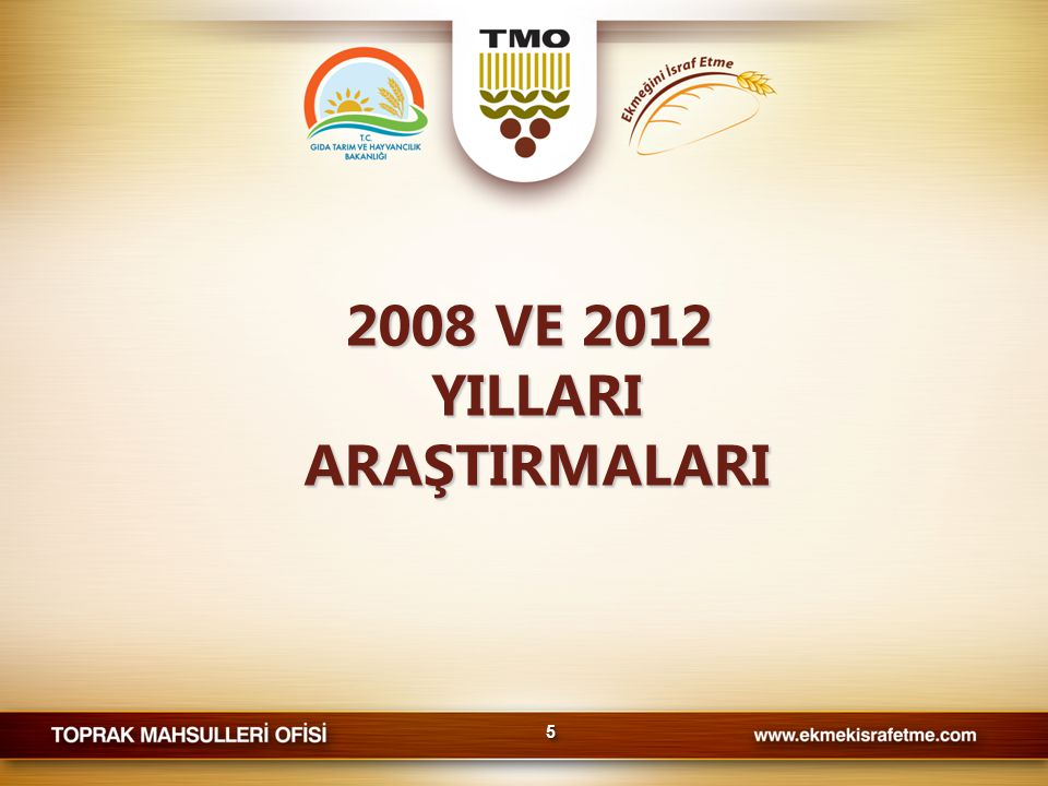2008 VE 2012 YILLARI ARAŞTIRMALARI