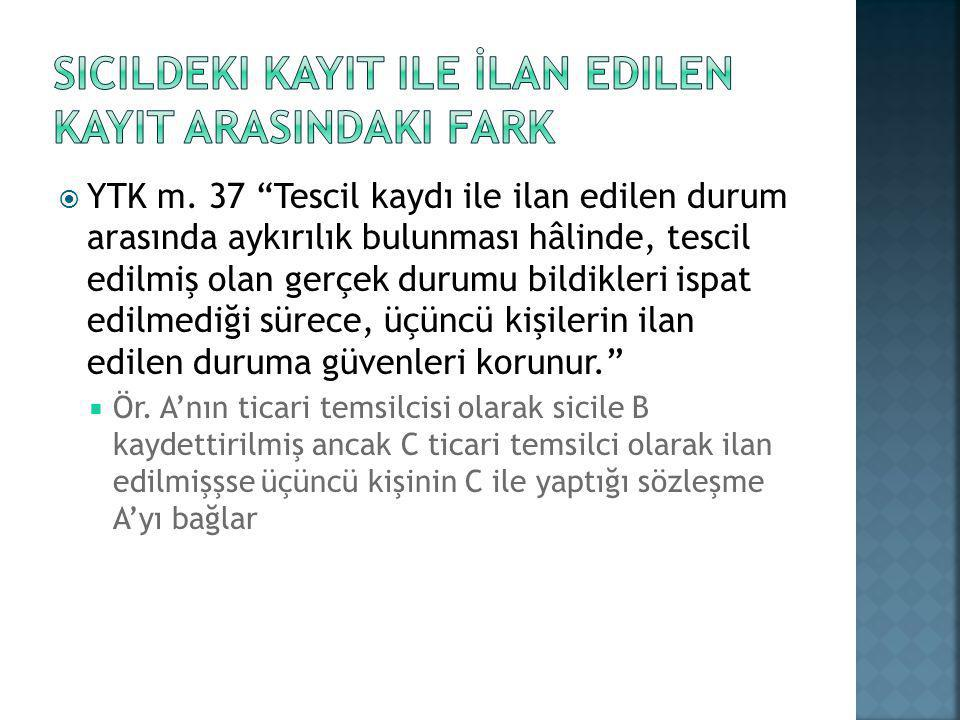 Sicildeki kayIt ile İlan edilen kayIT arasINdaki fark
