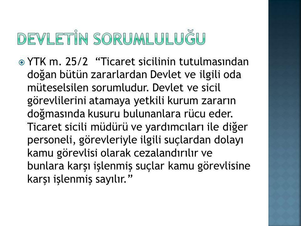DEVLETİN SORUMLULUĞU