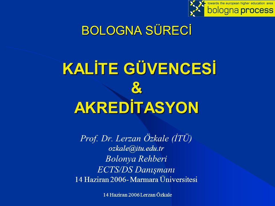 BOLOGNA SÜRECİ KALİTE GÜVENCESİ & AKREDİTASYON