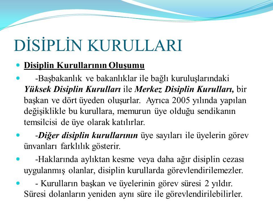 DİSİPLİN KURULLARI Disiplin Kurullarının Oluşumu