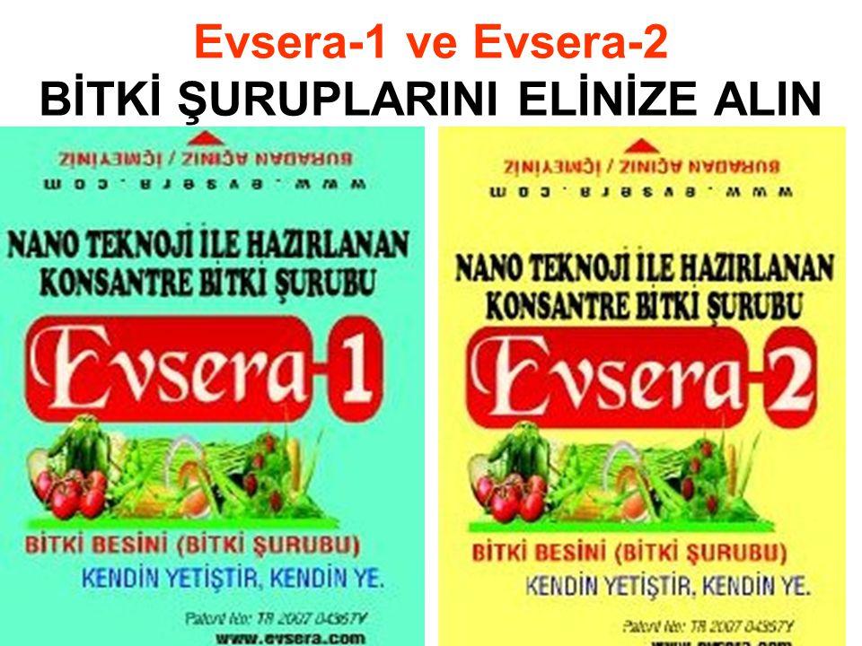 Evsera-1 ve Evsera-2 BİTKİ ŞURUPLARINI ELİNİZE ALIN