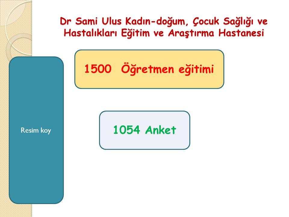 1500 Öğretmen eğitimi 1054 Anket