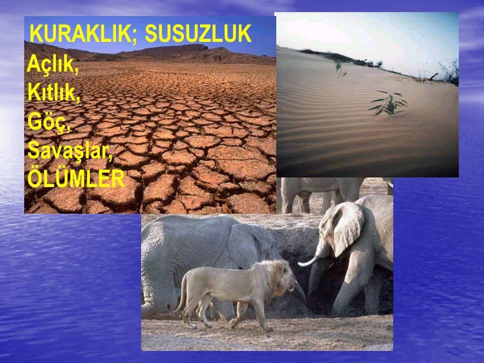 KURAKLIK; SUSUZLUK Açlık, Kıtlık, Göç, Savaşlar, ÖLÜMLER