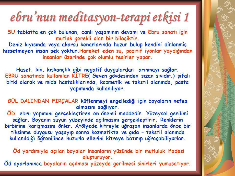 ebru'nun meditasyon-terapi etkisi 1
