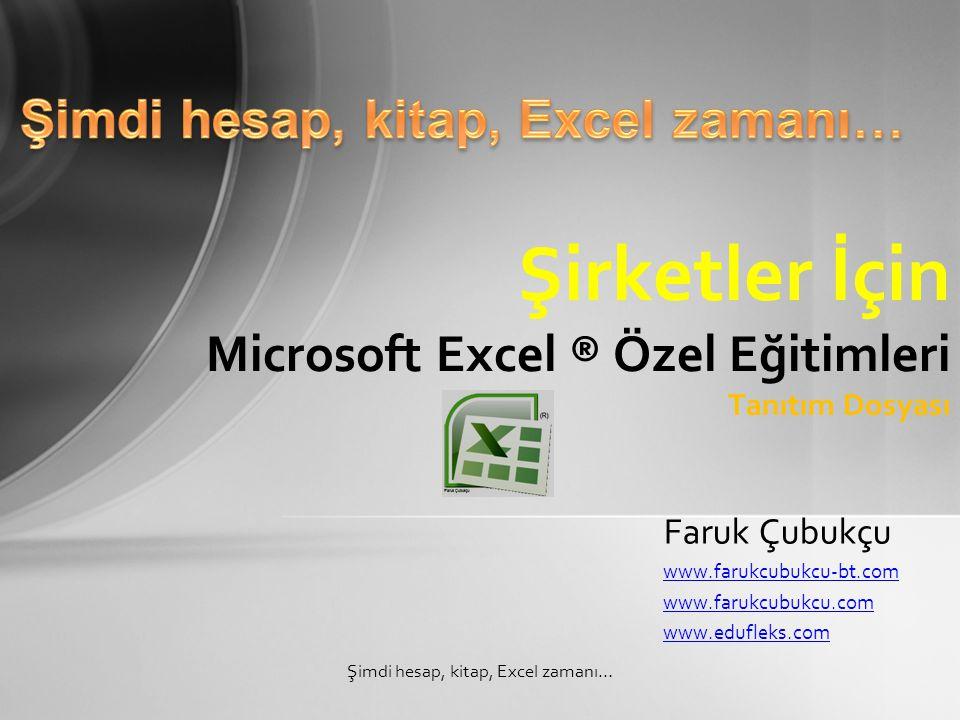 Şirketler İçin Microsoft Excel ® Özel Eğitimleri Tanıtım Dosyası