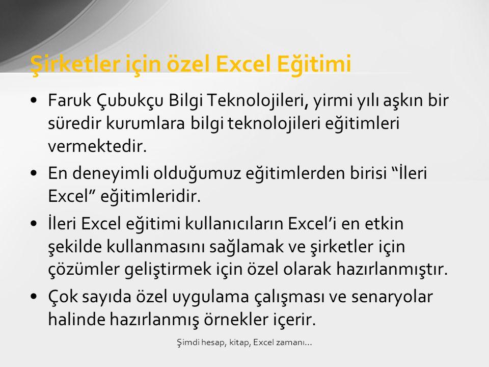 Şirketler için özel Excel Eğitimi