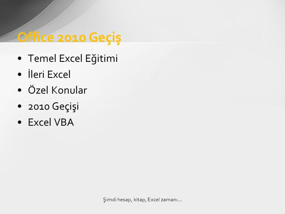 Şimdi hesap, kitap, Excel zamanı…