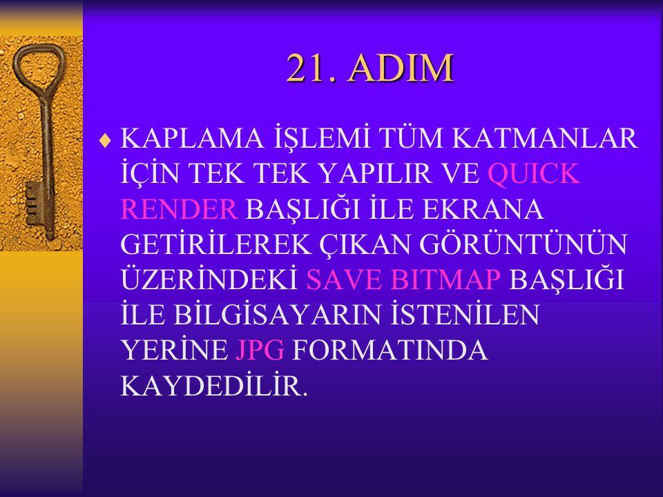 21. ADIM