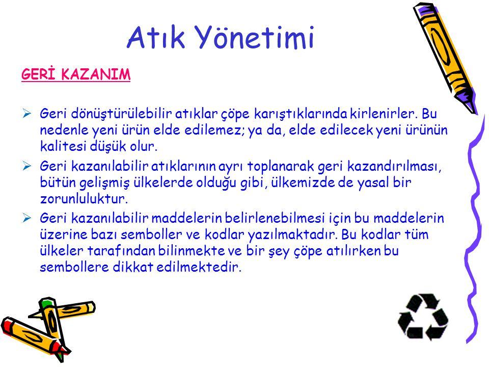 Atık Yönetimi GERİ KAZANIM