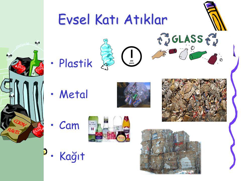 Evsel Katı Atıklar Plastik Metal Cam Kağıt