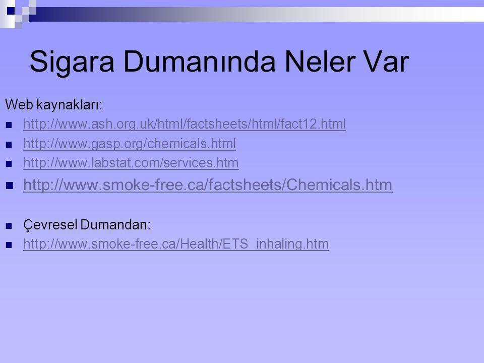 Sigara Dumanında Neler Var