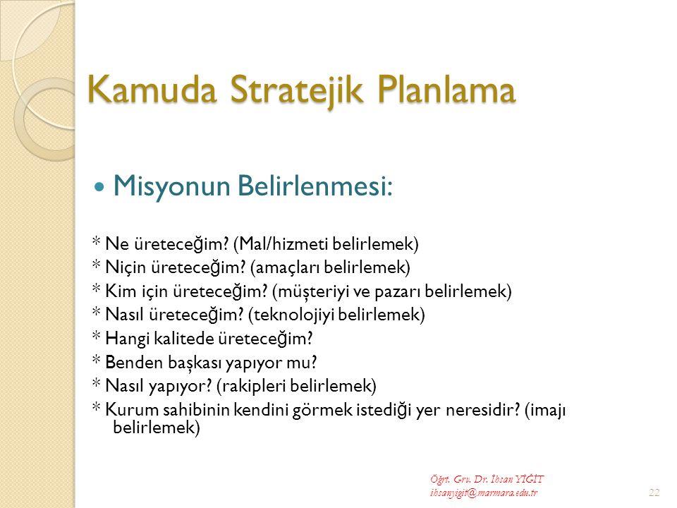 Kamuda Stratejik Planlama