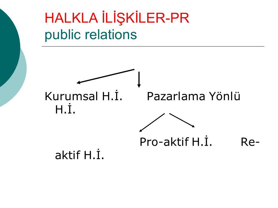HALKLA İLİŞKİLER-PR public relations