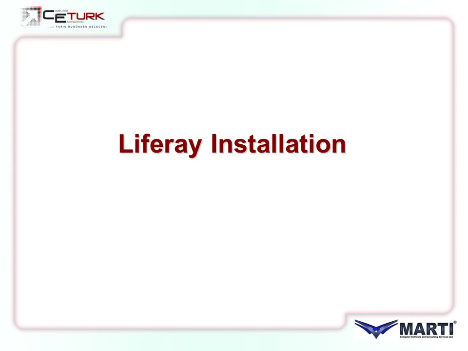 Liferay Installation