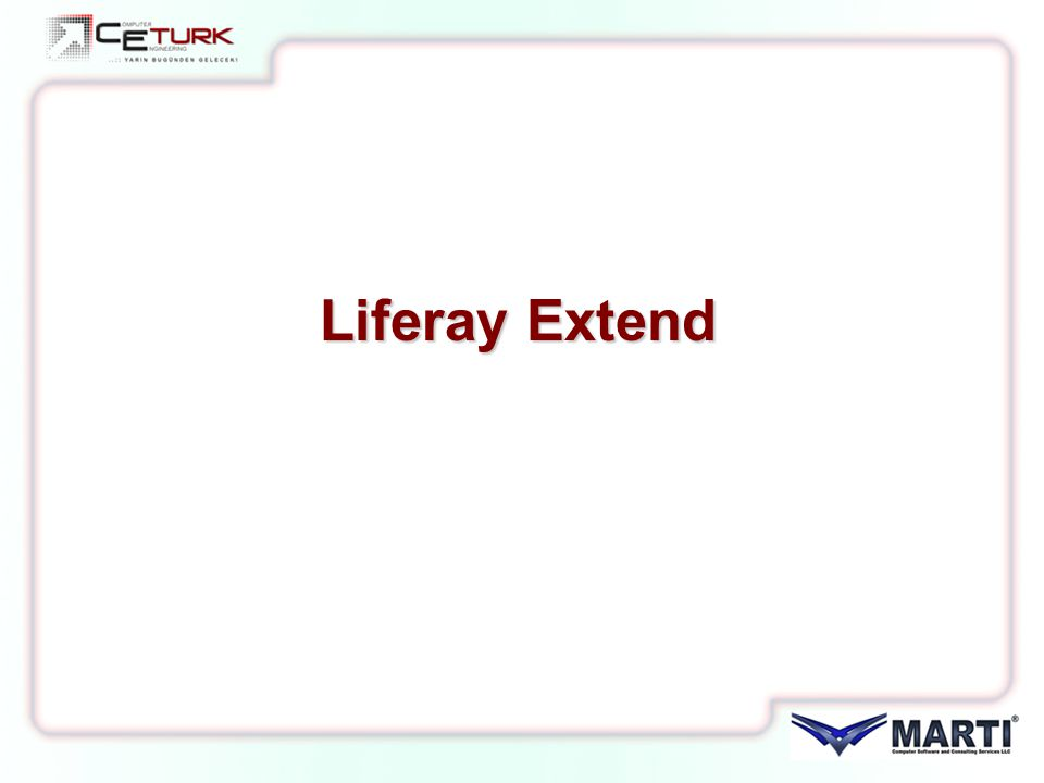 Liferay Extend