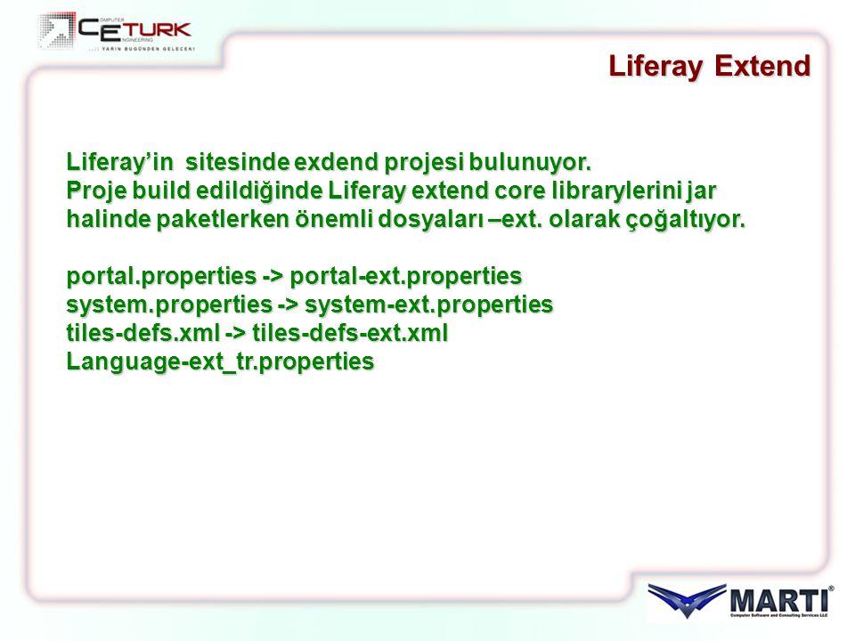 Liferay Extend Liferay'in sitesinde exdend projesi bulunuyor.