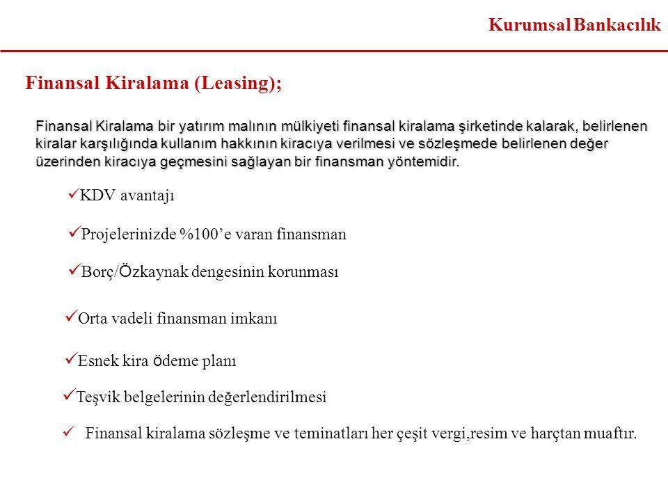 Finansal Kiralama (Leasing);