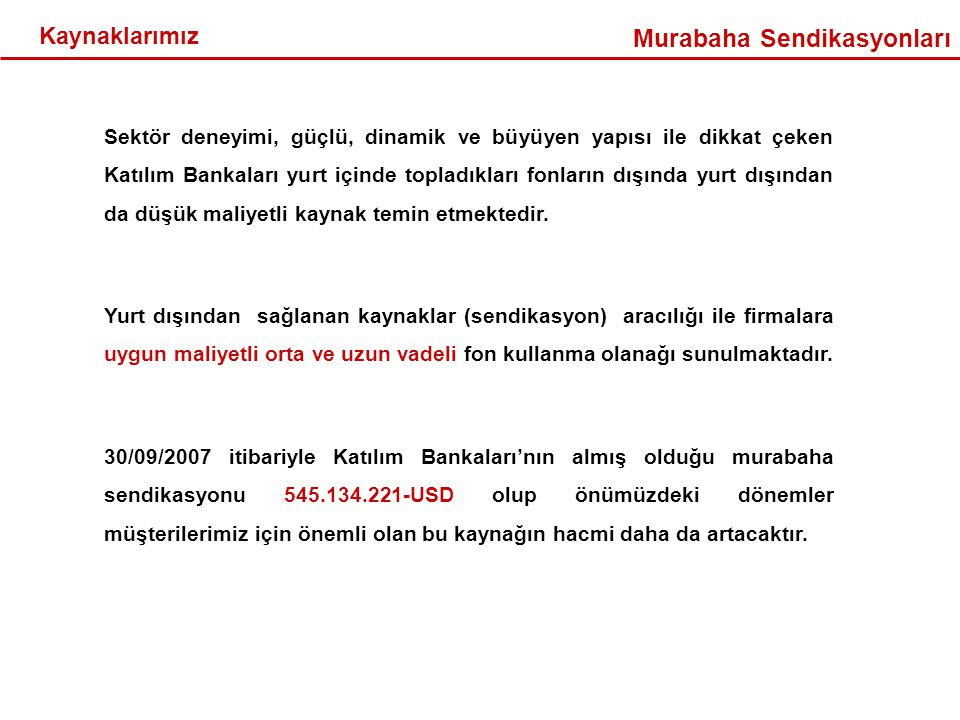 Murabaha Sendikasyonları