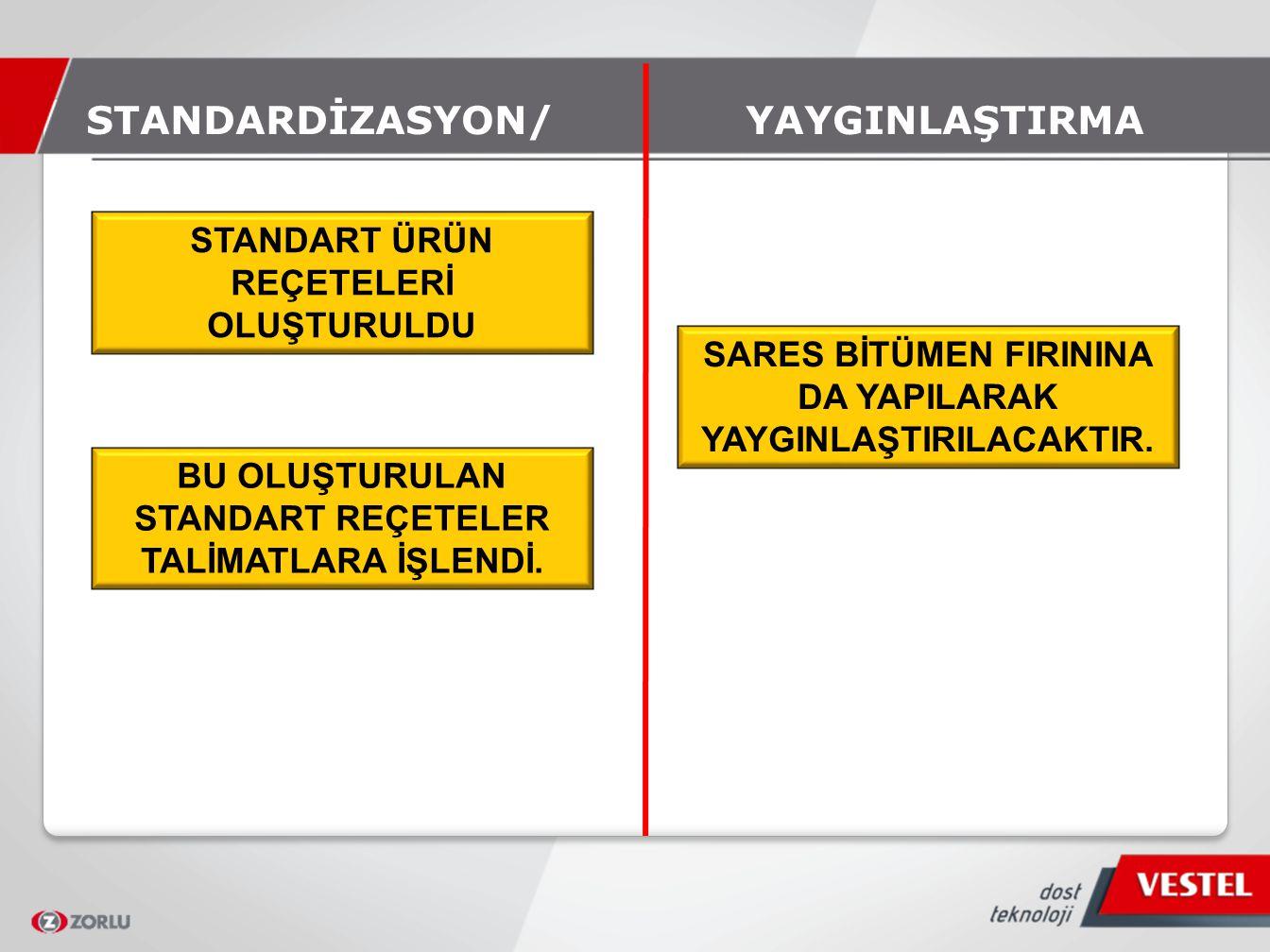 STANDARDİZASYON/ YAYGINLAŞTIRMA