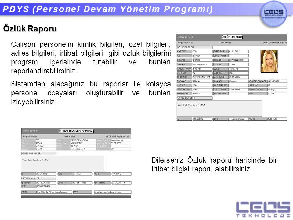 Özlük Raporu