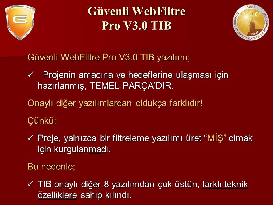 Güvenli WebFiltre Pro V3.0 TIB