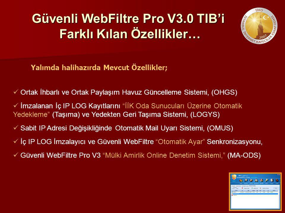 Güvenli WebFiltre Pro V3.0 TIB'i Farklı Kılan Özellikler…