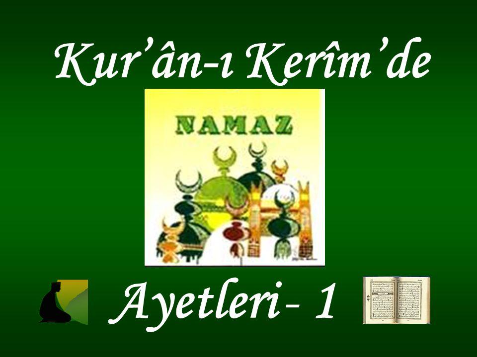 Kur'ân-ı Kerîm'de Ayetleri - 1