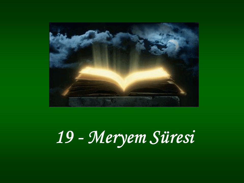 19 - Meryem Süresi