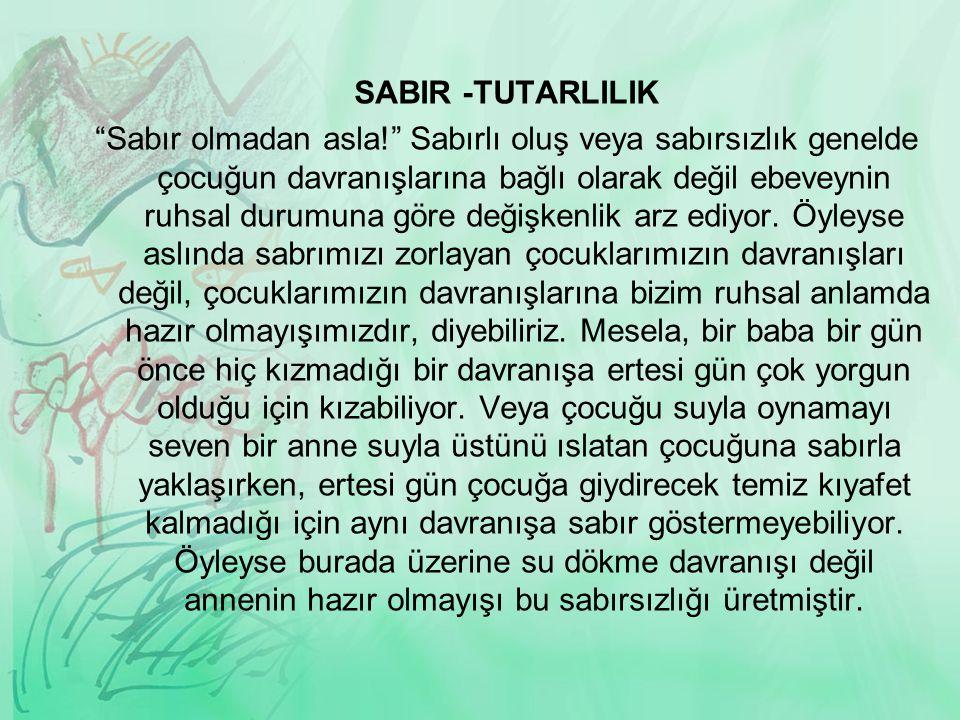 SABIR -TUTARLILIK