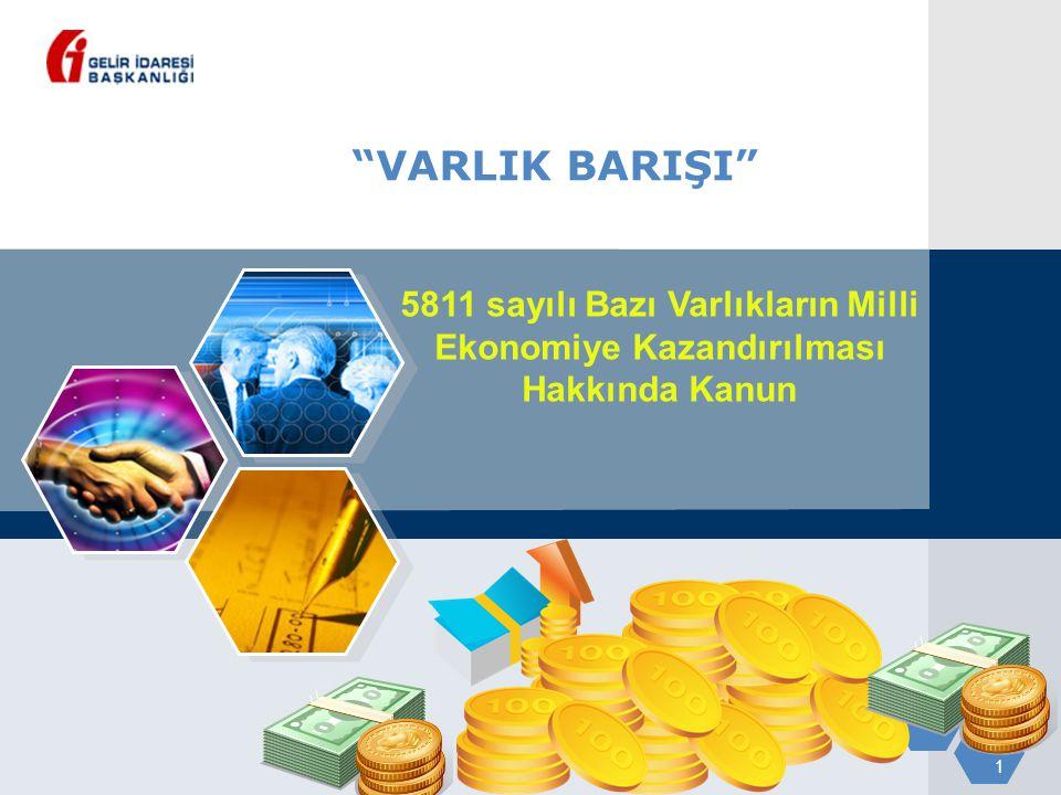 VARLIK BARIŞI 5811 sayılı Bazı Varlıkların Milli Ekonomiye Kazandırılması Hakkında Kanun