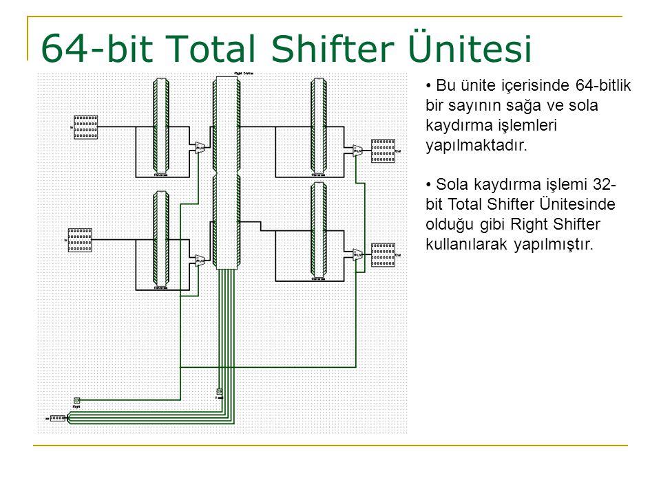 64-bit Total Shifter Ünitesi