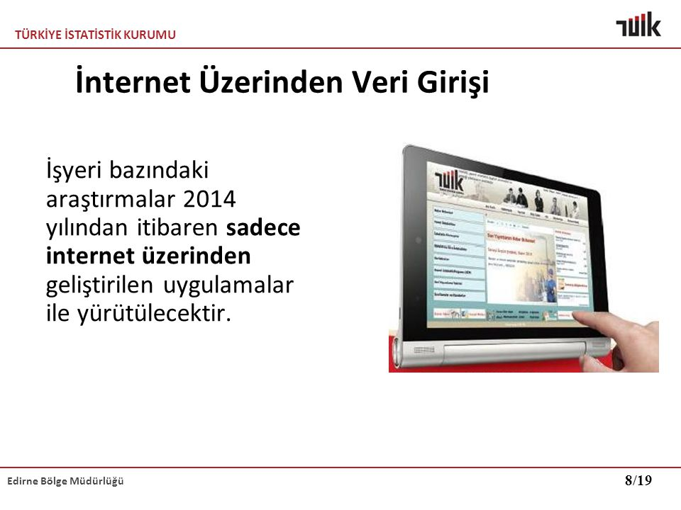 İnternet Üzerinden Veri Girişi