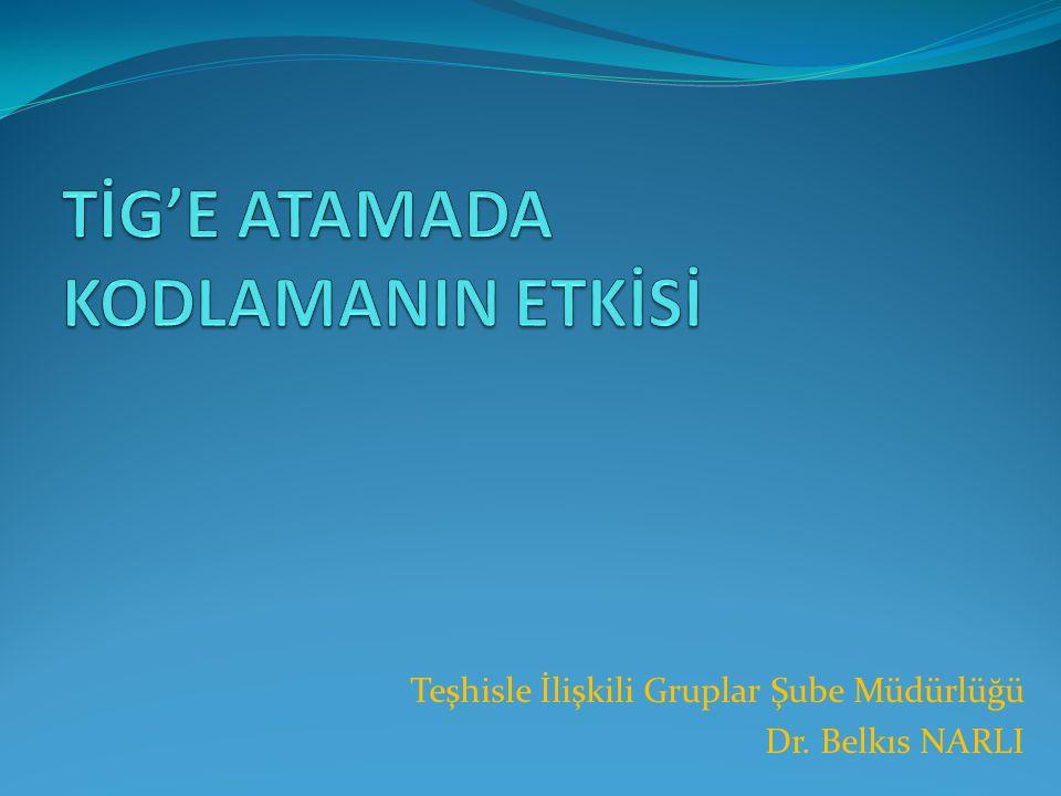 TİG'E ATAMADA KODLAMANIN ETKİSİ