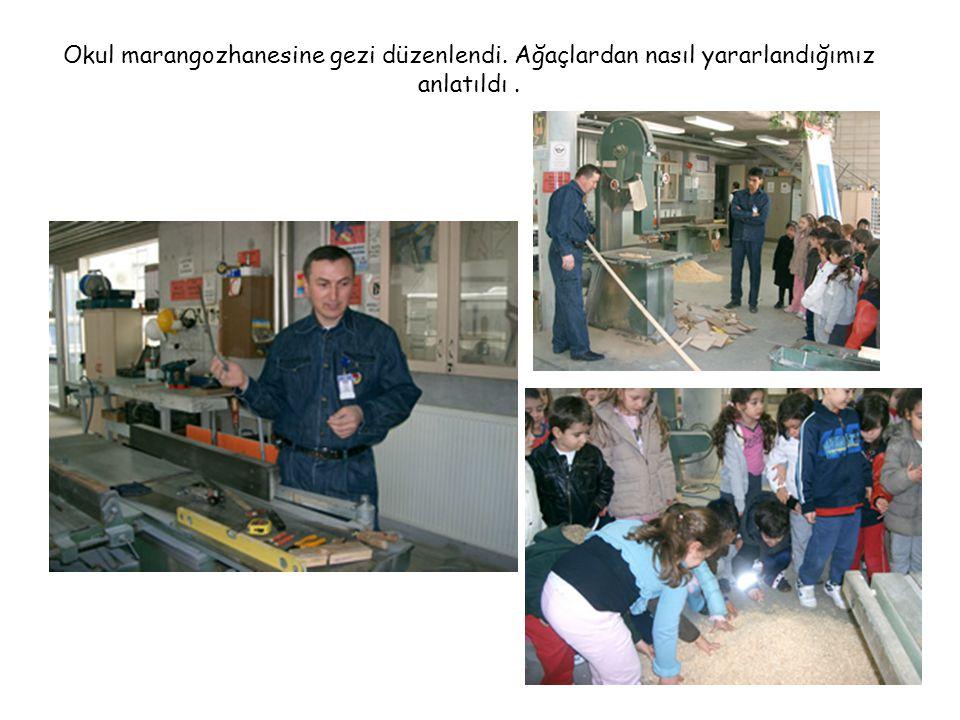 Okul marangozhanesine gezi düzenlendi