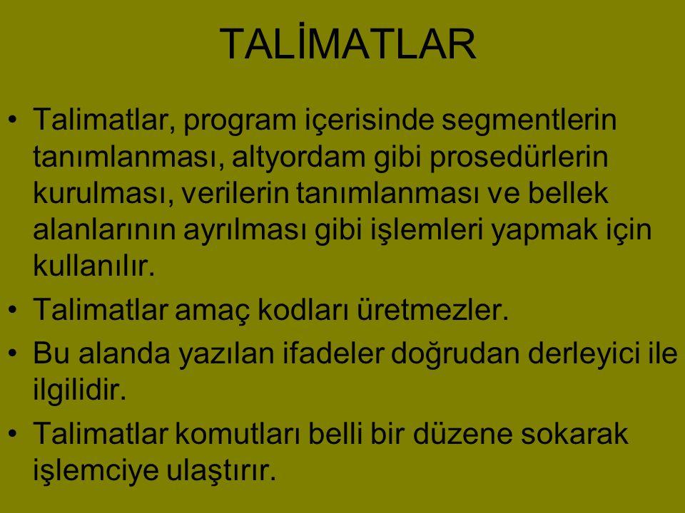 TALİMATLAR