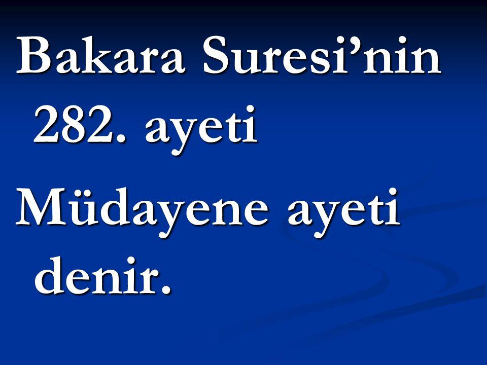 Bakara Suresi'nin 282. ayeti