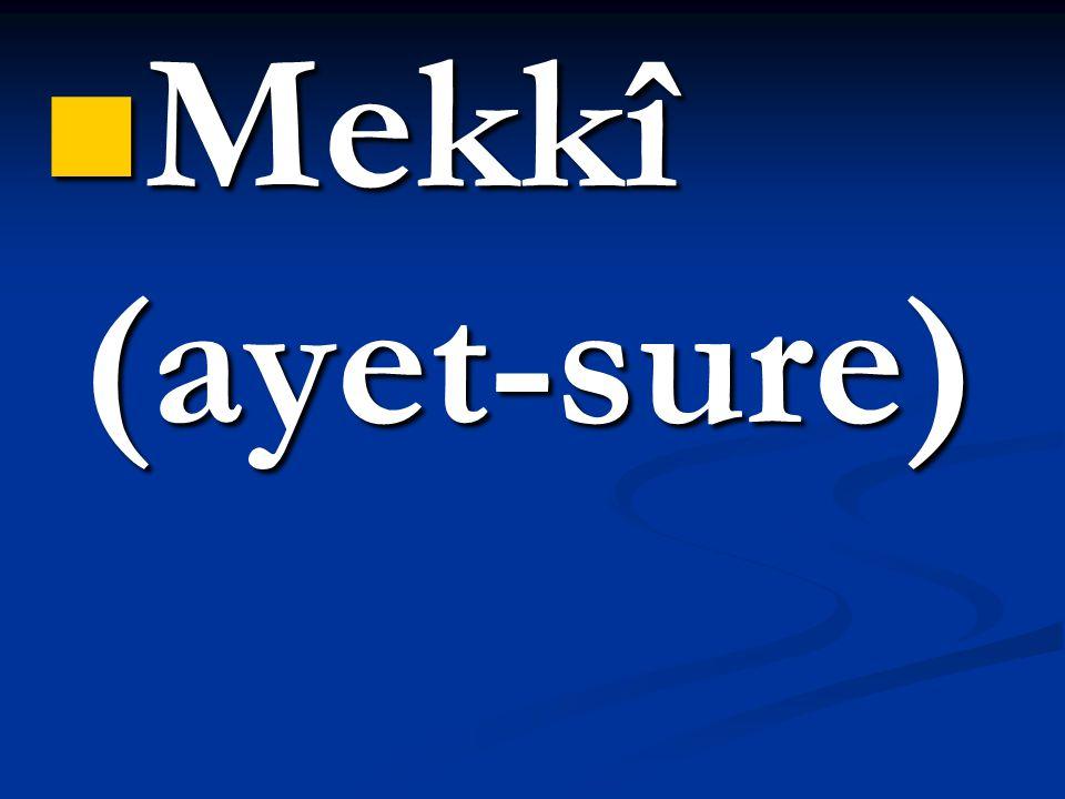 Mekkî (ayet-sure)