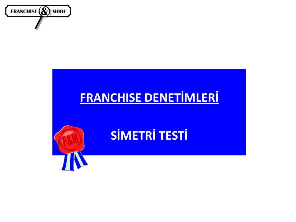 FRANCHISE DENETİMLERİ SİMETRİ TESTİ