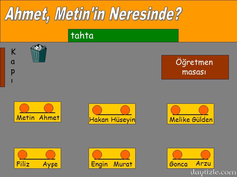 Ahmet, Metin in Neresinde