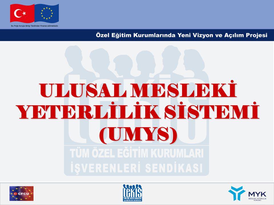 ULUSAL MESLEKİ YETERLİLİK SİSTEMİ (UMYS)