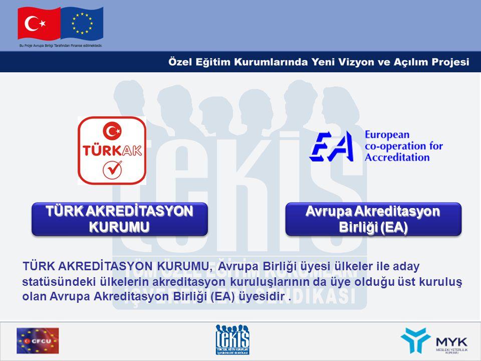 TÜRK AKREDİTASYON KURUMU Avrupa Akreditasyon Birliği (EA)