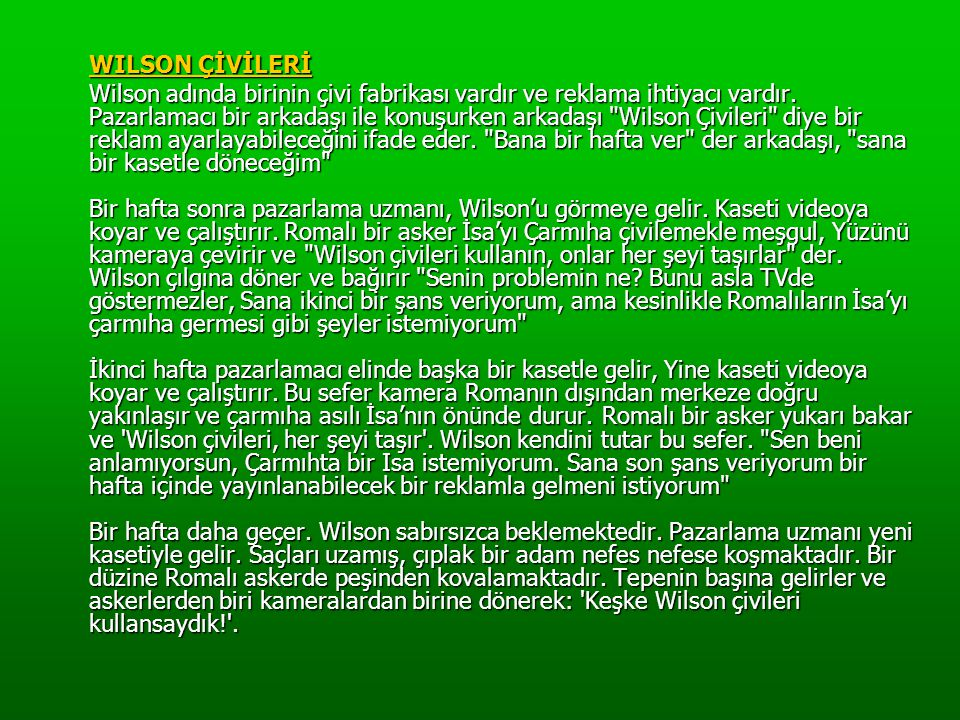 WILSON ÇİVİLERİ