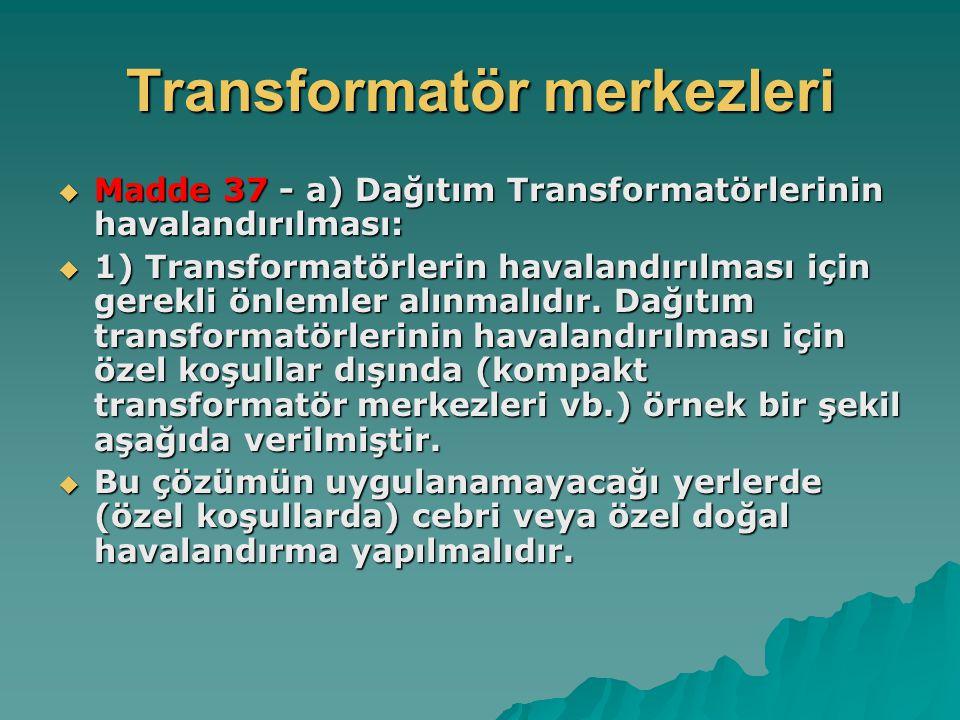 Transformatör merkezleri