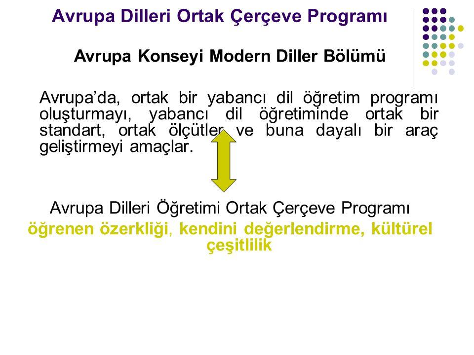 Avrupa Dilleri Ortak Çerçeve Programı