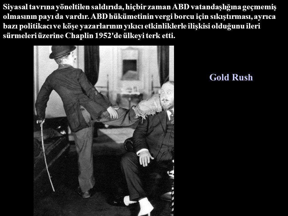 Siyasal tavrına yöneltilen saldırıda, hiçbir zaman ABD vatandaşlığına geçmemiş olmasının payı da vardır. ABD hükümetinin vergi borcu için sıkıştırması, ayrıca bazı politikacı ve köşe yazarlarının yıkıcı etkinliklerle ilişkisi olduğunu ileri sürmeleri üzerine Chaplin 1952 de ülkeyi terk etti.