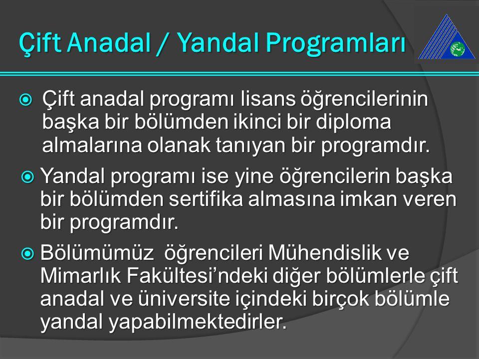 Çift Anadal / Yandal Programları